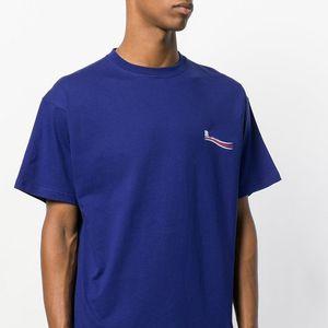 Wave Cola Europea Tee impresión de la letra de alta calidad de los hombres y mujeres pareja suelta Camiseta cómoda HFWPTX147