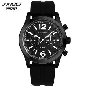 SINOBI Sport Damen-Armbanduhr Casula Genf-Quarz-Uhr-weiche Silikon-Bügel-Fashion Color Günstige Affordable Reloj Mujer