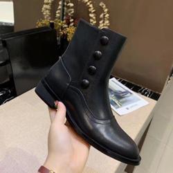 Hot Sale-plat Bouton de luxe fond chaussures femme 2019 Designer bottes courtes chaussures pour dames zipper Bottes en cuir Mode Bare