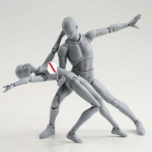 1 Set Figures Dessin pour Artistes Figurine modèle humain homme et femme Mannequin Set d'action figure jouets figurine Dessiner chiffres