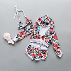 Traje de baño de los niños muchachas de los cabritos 2019 traje de baño para natación de la muchacha traje de baño trajes del bebé Ropa Mujer Niño Niños princesa