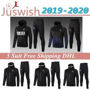 New 2019 Paris Weiß Schwarz Jacken Hoodies Tracksuits 19 20 Psg Grau survêtement 2020 Blau Mbappe Langarm Voll Zipper Windbreaker Mantel