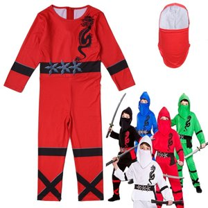 Ninjago Cosplay Costume Boys Power Red Black Blue White Kids Fancy Dress Outfit Age 3-13 Y