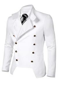2019 Fashion Men's Casual Double Breasted Jacket Blazer Tailor High Quality Men Slim Fit Stylish Suit Jacket Blazer