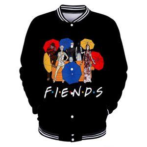 WAMNI Streetwear Moda Abstract 3D Character amigo Baseball Uniform Hip Hop Jacket Moda Personalização