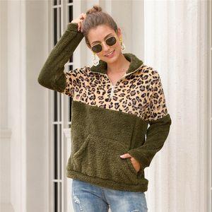 Luxury Womens Leopard Hoodies Fashion Loose Pullover Sweatshirt Designer Womens Patchwork Tops