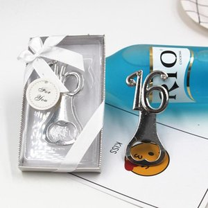 12th 16th 18th Design Silver Bottle Opener Birthday Anniversary Gift Digital Metal Beer Openers Party Gift For Guest