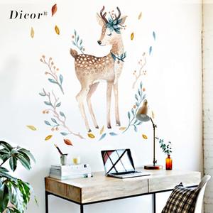 ДИКОР окрашенные палевые стены стикеры животных Милый для украшения гостиной DIY съемный наклейки на стены домашнего декора Кабинета QT289