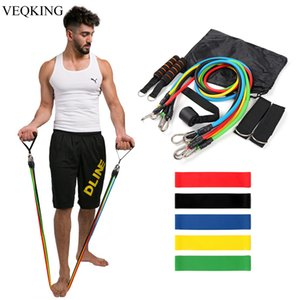 16 Pcs Set Latex Resistance Bands,Training Exercise Yoga Tubes Pull Rope,Rubber Expanders Elastic Fitness Bands Crossfit