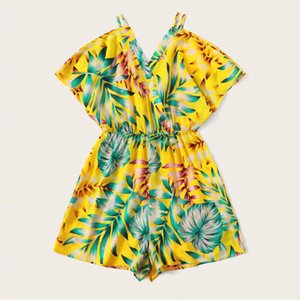 Women Beach Rompers Female 2019 Summer Lace Up Print Floral Casual Short Jumpsuit Sleeveless Bodycon Sexy Party Playsuit#J30