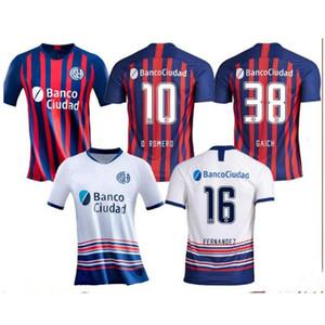 Новый 2020 Сан-Лоренсо футбол Джерси 20/21 San Lorenzo Дом # 16 BELLUSCH футбол рубашка # 9 BLANDI CERUTTI Customized футбол равномерное