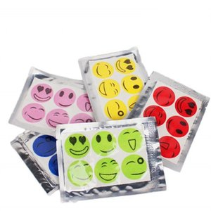 Mosquito Stickers Smiling Face Repellent Anti Mosquito Patches Non Toxic Pure Essential Oil Stickers Summer Drive Repeller YFA2044-1