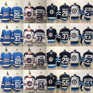 2018-19 Novos jatos Winnipeg 25 Paul Stastny 26 Blake Wheeler 29 Patrik Laine 33 Dustin Byfuglien 55 camisetas Mark Scheifele Hodkey