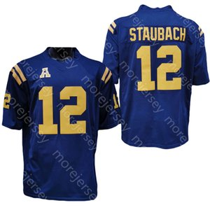 2020 New Navy Midshipmen Jerseys College Football Jersey NCAA 12 Roger Staubach 해군 모든 스티치 및 자수 남성 청소년 크기