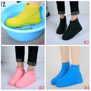 Latex Waterproof Rain Shoes Covers Anti Rain Water shoes Disposable Slip-resistant Rubber Rain Boot Overshoes Shoes Accessories BYP700