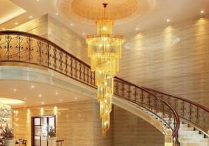 lustres de cristal lustre de iluminação led luxo moderno moradias escadas do hotel double duplex cristal escadas luzes lustres MYY