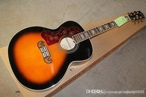 novo atacado deixou SJ200 handed Acoustic Guitar Sunburst Guitarra acústica Vintage 6 cordas da guitarra