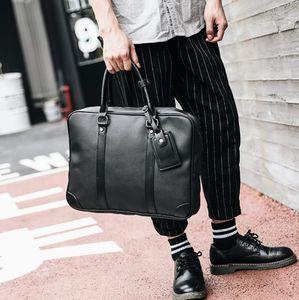 Оптовая Марка пакет многофункциональный человек портативный компьютер сумка простой объемный кожаный портфель бизнес-тренд all-match leisure bag