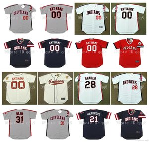 Vintage Cleveland Jersey Ricky Vaughn Cory Snyder David Justice Sandy Alomar ROGER DORN RICO CARTY ALBERT BELLE WILLIE HAYES retro do basebol