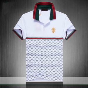 2019 Itália designer de polos medusa luxo dos homens avant-garde da moda camisa pólo High street pano camisa de algodão tiras de moda shirt dos homens