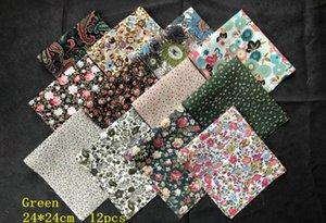 poupée style nordique Tissu imprimé tissu popeline coloré faisceaux patchwork main bricolage tissu 24 * 24cm
