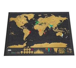Делюкс Erase World Travel Карта отрывать Карта мира путешествий Царапины Для Карта 82.5x59.4cm номер домашнего офиса украшения стены стикеры