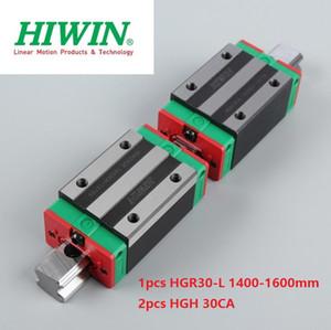 1 adet Orijinal Yeni HIWIN HGR30-1400mm / 1500mm / 1600mm lineer kılavuz / ray + 2 adet HGH30CA cnc router parçaları için doğrusal dar bloklar
