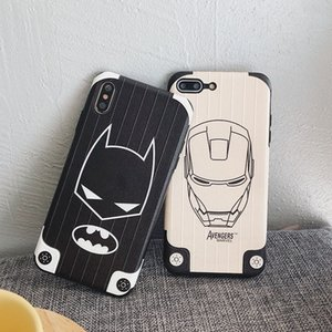Marvel Avengers Phone Case Iron Man para Iphone Xs Max Xr 6 7 8 X Plus Batman TPU Soft IMD Fundas para móviles