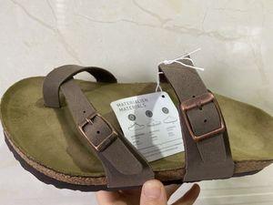 2020 14 colores venta Mayarí Arizona Gizeh caliente del verano mujeres de los hombres de los planos zapatillas sandalias de corcho unisex zapatos casuales imprimen colores mezclados tamaño 34-47