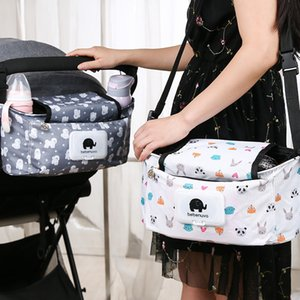 Ins hot style small house bundle mouth bag black and white cotton canvas toy children room decoration bag