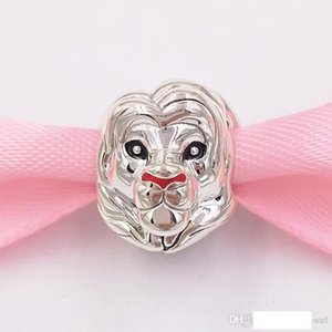 Auténticos 925 cuentas de plata esterlina encantos Disny Siba Lion Charm se adapta al estilo europeo joyería de Pandora collar de las pulseras 798049ENMX