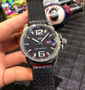 2 Style High Quality GT XL 168997-3001 Stainless Steel Automatic Mens Watch Black Dial Rubber Strap Gents Sports Watches