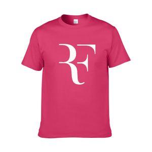Neue Roger Federer RF Tennis T Shirts Männer Baumwolle Kurzarm Perfekt Gedruckt Herren T-Shirt Mode Männlichen Sport Oner größe Tees ZG7
