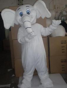 Halloween Costume De Mascotte D'éléphant Blanc de Haute Qualité Dessin Animé Animal Anime thème personnage caractères De Noël Carnaval Fantaisie Costumes