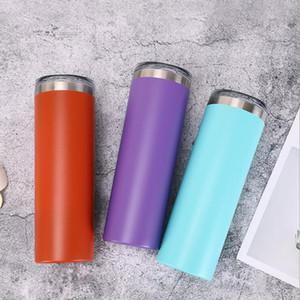 30 oz ince renk saman sıska mandal izole mandal bardak toz kaplı çift çeper, vakum, su şişesi 20 oz
