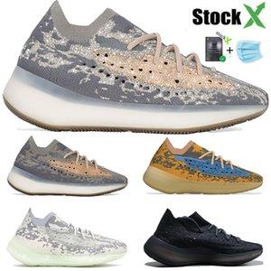 Kanye Névoa Estrangeiro azul Aveia homens mulheres 3M reflexivo tênis beluga argila triplo dos homens pretos de alta qualidade designer de sapatilhas US 5-11,5