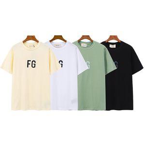 Impreso Carta de la manga para mujer para hombre camiseta del diseñador Carta Calle 20SS FG reflectante cortocircuito del estilo de la moda Camiseta con 4 colores