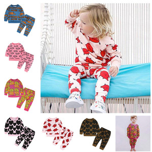 INS Kids Outfits Spring Autumn Hoodies 2 Piece Set Long Sleeve Sweatshirt Sweater + Pants Trousers Tracksuit Boys Girls Sport Suit Clothing