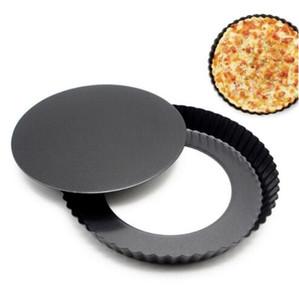 """9 """"غير عصا عموم بيتزا جولة القابل للإزالة أسفل مطبخ خبز قالب الفطيرة بيتزا كعكة مزمر الثقيلة فطيرة أدوات بيتزا عموم خبز YP575"""