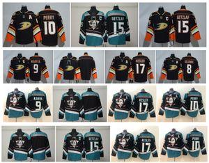 NHL Anaheim Ducks Jersey 15 Ryan Getzlaf 8 Teemu Selanne 9 Paul Kariya 10 Corey Perry 17 Ryan Kesler Blank Green Black Hockey Jerseys