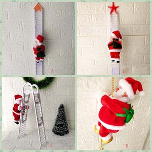 Cute Electric Santa Claus Christmas Decorations Santa Claus Children Electric Toys Santa Claus Toys Climbing Ladders Party HH9-2613