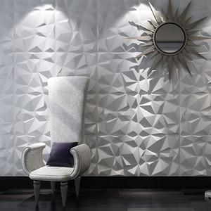 Salon Mutfak Yatak banyo tuvalet seramik karo Ev Dekorasyonu Parti'yi kapsayan 12 adet 50 cm 3D Duvar Paneli duvar çıkartmaları