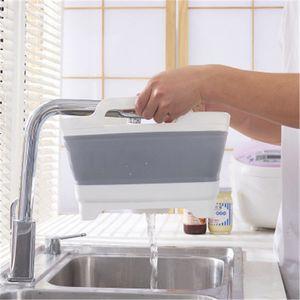 dobrável Multi-funcional criativo cesta de lavagem de plástico cesta de frutas vento rural cesta cozinha dreno para cartão magnético para roupas