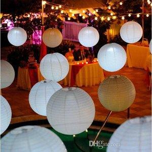 Lanterna De Casamento Multi-cores linda de 12 polegadas Lanterna De Papel Artesanal Pendurada Decoração de Festa Material festivo venda a quente 20pcs SK549