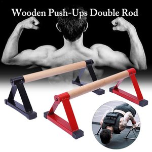 Legno parallettes Set push-up barre parallele Stretch Doppia asta di sostegno Calisthenics verticale sulle mani Anti Gravity Fitness Equipment F20 Y200506