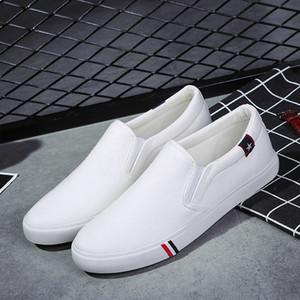 Yaz Nefes Erkekler Tuval Ayakkabı Casual Erkek loafer'lar Yumuşak Rahat Açık Düz Tembel Ayakkabı Erkek Chaussure Homme Slip