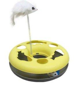 Kedi Oyuncak Bahar Fare Çılgın Eğlence Disk Fonksiyonlu Disk Etkinlik Pet Komik Oyuncak Çoklu Renk oyna