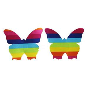 Одноразовые груди наклейка многоцветный радуга обнаженный бюстгальтер 11 форма защиты окружающей среды крышка соска оптовая продажа фабрики сразу