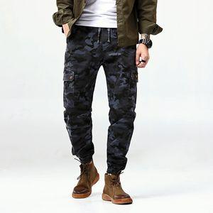 Mens tobillo Legth pantalones de camuflaje de Hip Hop de Calle del basculador masculino pantalones más el tamaño Moda Negro Pantalones de Carga Camo