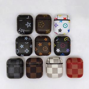 애플 아이폰 헤드셋 액세서리 이어폰 보호에 대 한 빈티지 가죽 휴대 전화 이어폰 케이스 되세요 로고를 선택하기위한 10 색